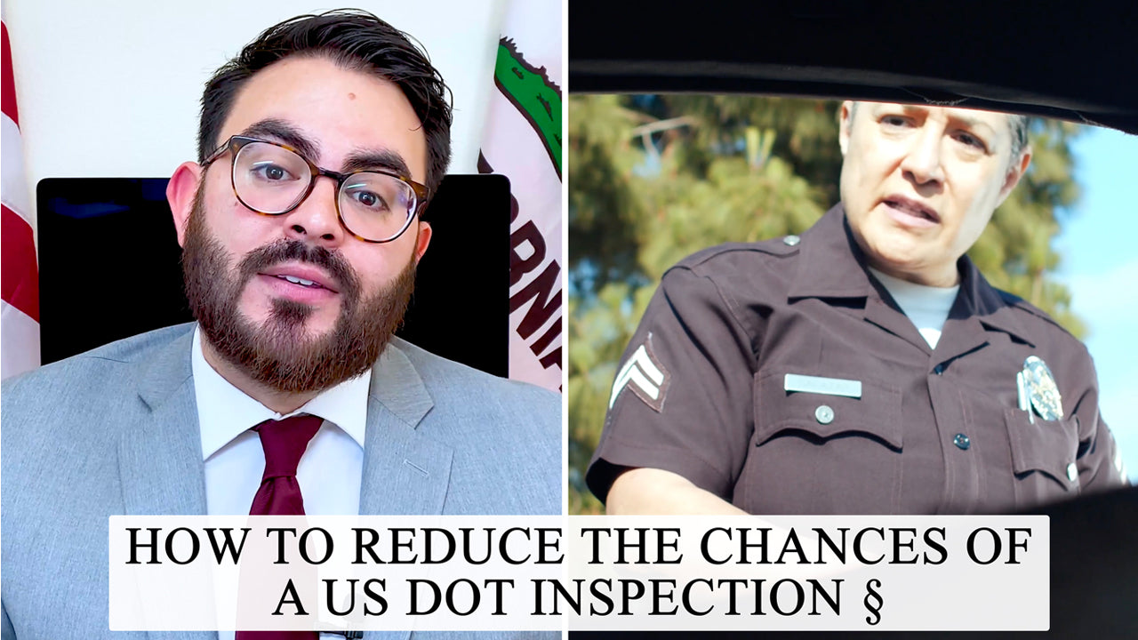 how to reduce the changes of a us dot inspection