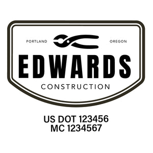company name construction and US DOT