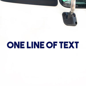 1 Line of Text Decal Sticker