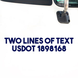 2 Lines of Text Decal Sticker