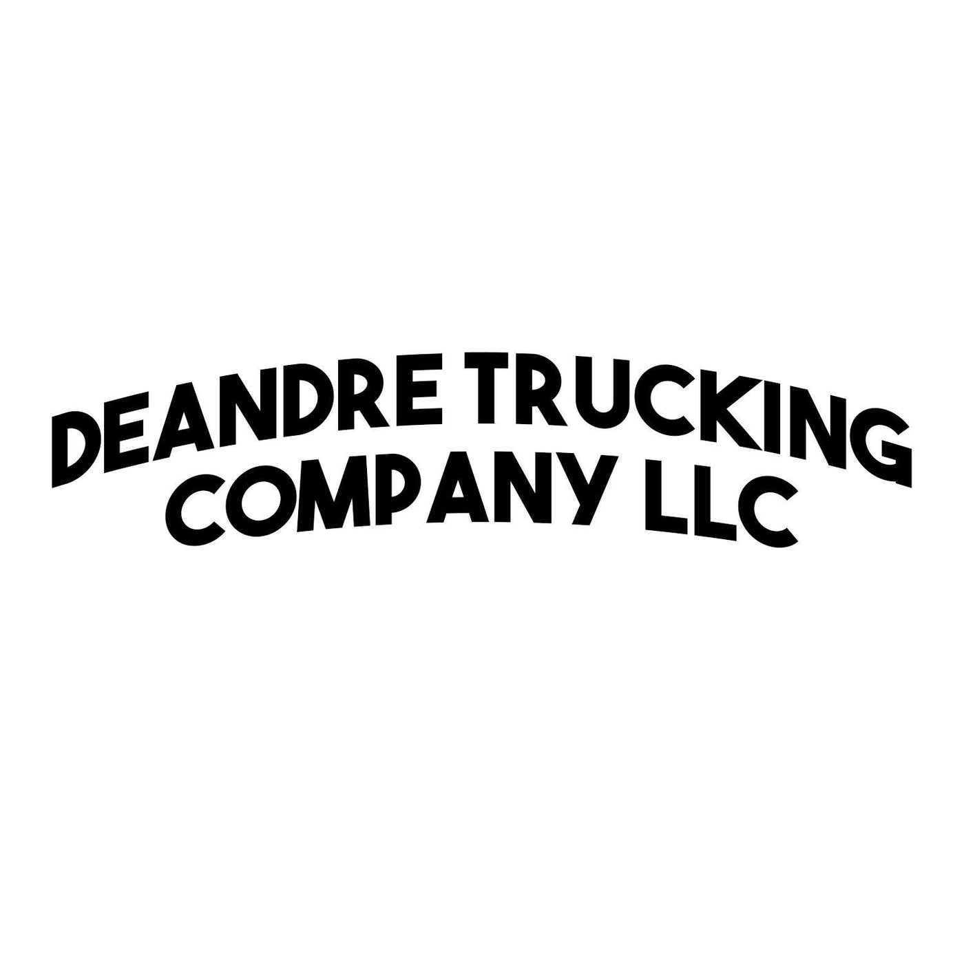 Curved Business Name Decal Two Lines (Set of 2)