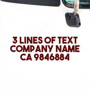 3 Lines of Text Decal Sticker
