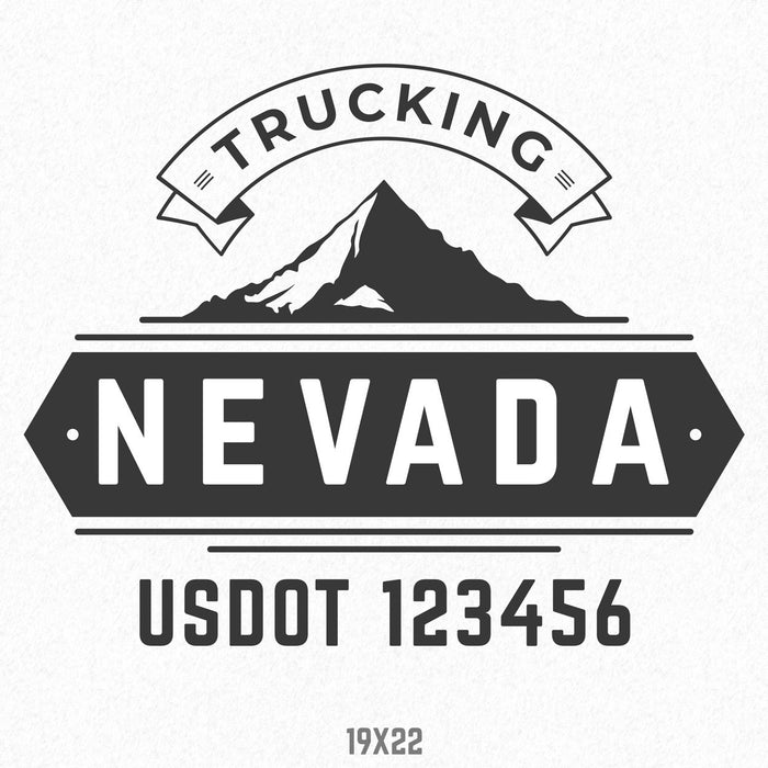 USDOT Company Name Truck Decal, (Set of 2)