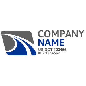 Transportation logistic company trucks decal