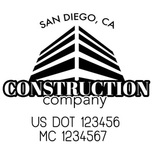 company name construction build and US DOT