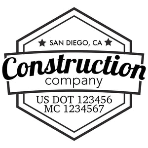 company name construction badges and US DOT
