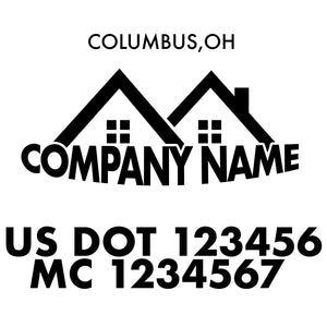 company name construction house and US DOT