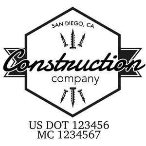 company name construction screw and US DOT