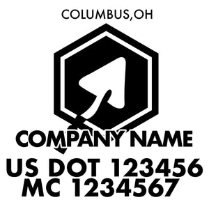 company name construction hexagon tool and US DOT