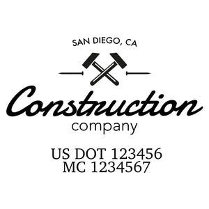 company name construction tools and US DOT