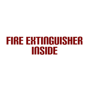 Fire Extinguisher Inside Decal Sticker
