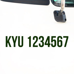 KYU Number Decal Sticker