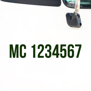 MC Number Decal Sticker
