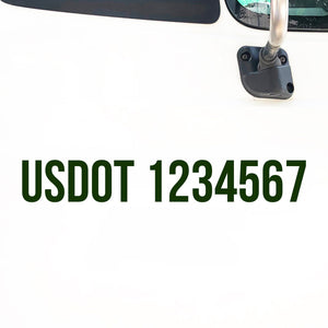 US DOT Number Decal Sticker