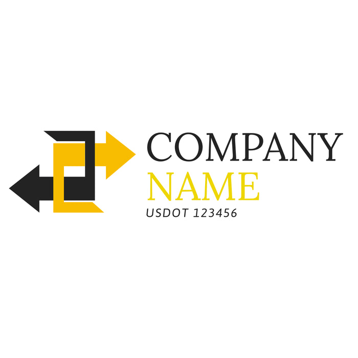 Company Name Truck Decal, USDOT (Set of 2)