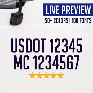 usdot mc truck decal sticker live preview