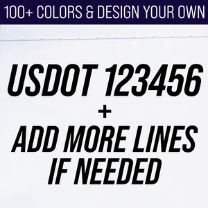 usdot number decal lettering