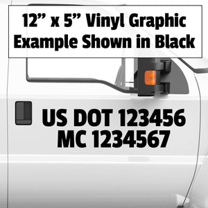 usdot mc number decal sticker