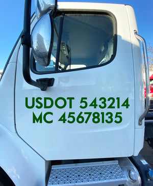 usdot mc lettering decal