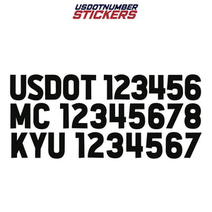 usdot mc kyu decal sticker
