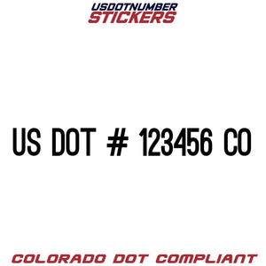 usdot sticker co colorado