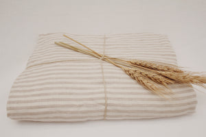 Linen Beach Throw Oat Stripe