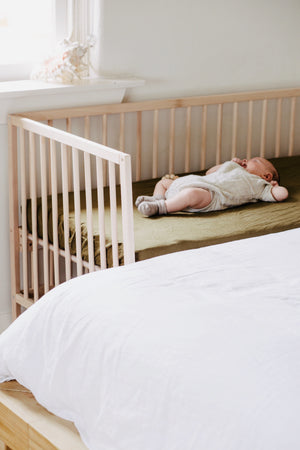 Fitted Cot Sheets Olive
