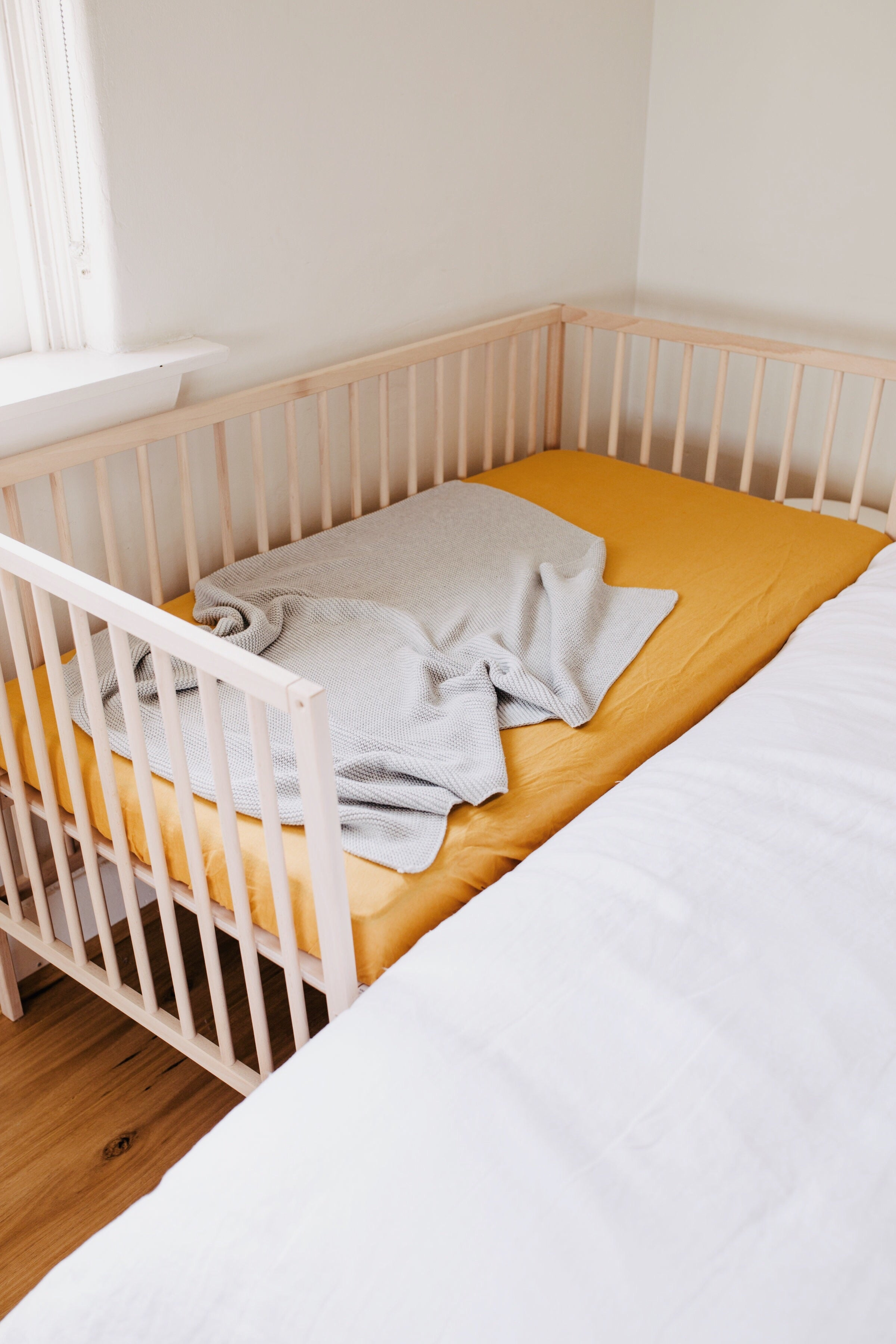 Fitted Cot Sheets Maize