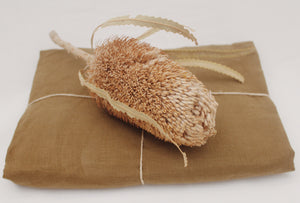 Linen Beach Throw Olive