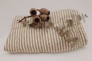 Fitted Cot Sheets Olive Stripe