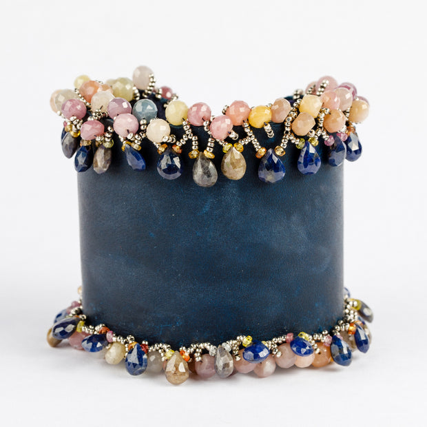 Variegated Sapphire Couture Cuff