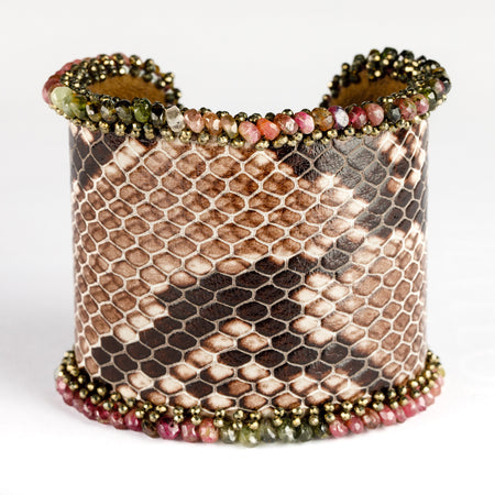 Colored Snakeskin Couture Cuff