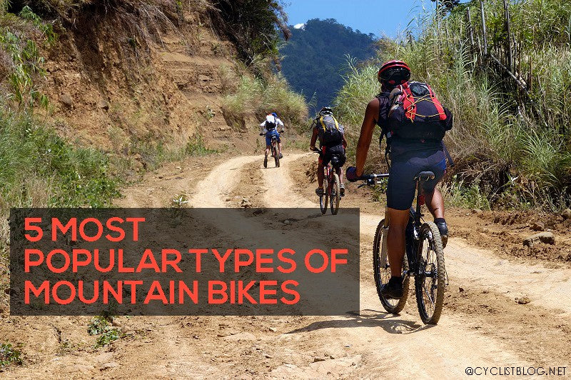 5 Most Popular Types of Mountain Bikes