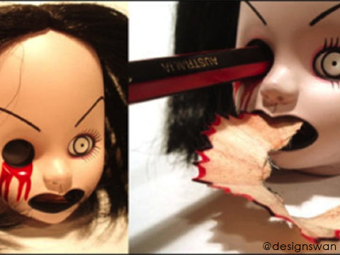 Dead Doll Eye Sharpener - Best Halloween props to frighten your guests