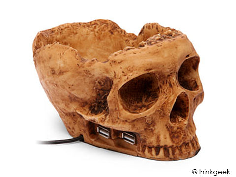 USB SKull drive - Best Halloween props to frighten the mood