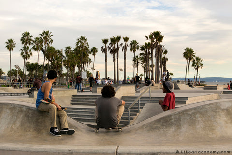 A right place to sit in a skatepark