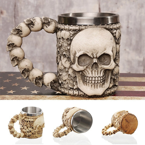 Skeleton Mugs for Coffee, Juice and Beer - Halloween Special - JustPeri - Drive Your Destiny