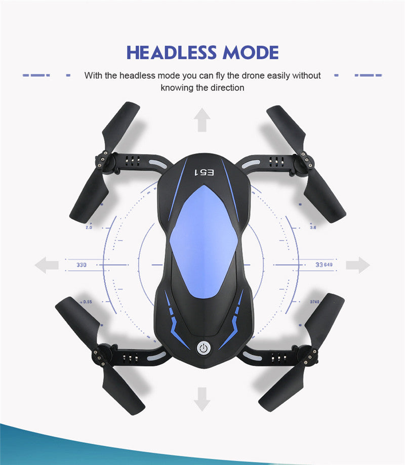 Eachine E51 RC Quadcopter 720P Foldable Camera Selfie Drone with Altitude Hold - JustPeri - Drive Your Destiny