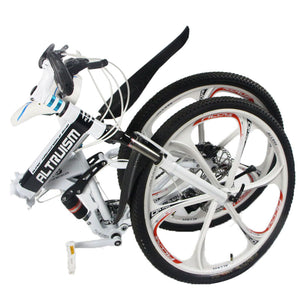 Trendy Foldable Electric bike with 21-speed Dual disc brake
