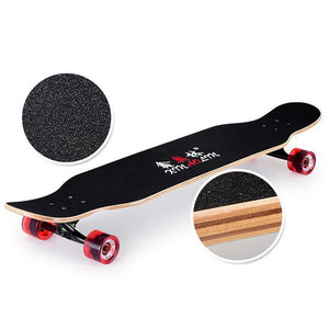 Multicolor Double Rocker Unisex Longboard