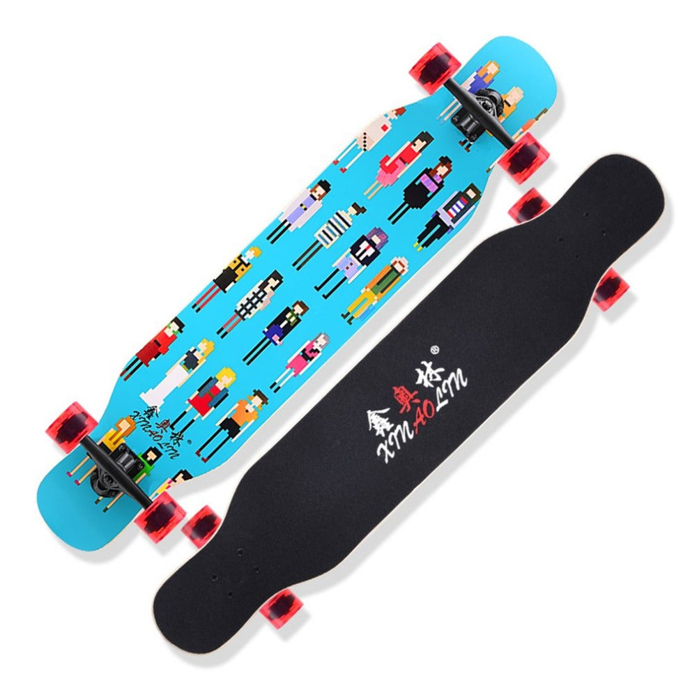 Multicolor Double Rocker Unisex Longboard - JustPeri - Drive Your Destiny