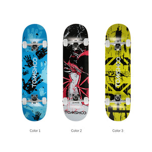 Freestyle Graphic Printed 31 inch Long Skateboard