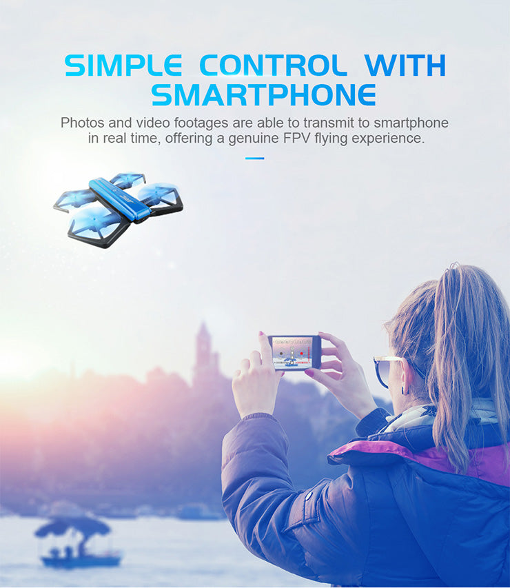 Multiple Axis Foldable Mini RC Selfie Drone - JustPeri - Drive Your Destiny