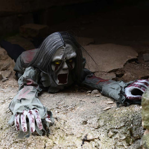 Image of Terrorizing Crawling Ghost Halloween Prop with Burning Eyes - JustPeri - Drive Your Destiny