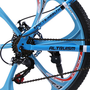 21-Speed Electric Foldable Mountain Bikes With Dual Disc Brake