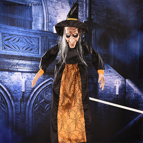 Image of Halloween Hanging Witch, Haunted House Props With  Voice Induction - JustPeri - Drive Your Destiny