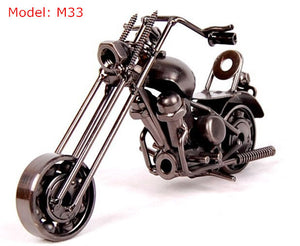 Mini Die-Cast Metal Motorbike Model Display Toy