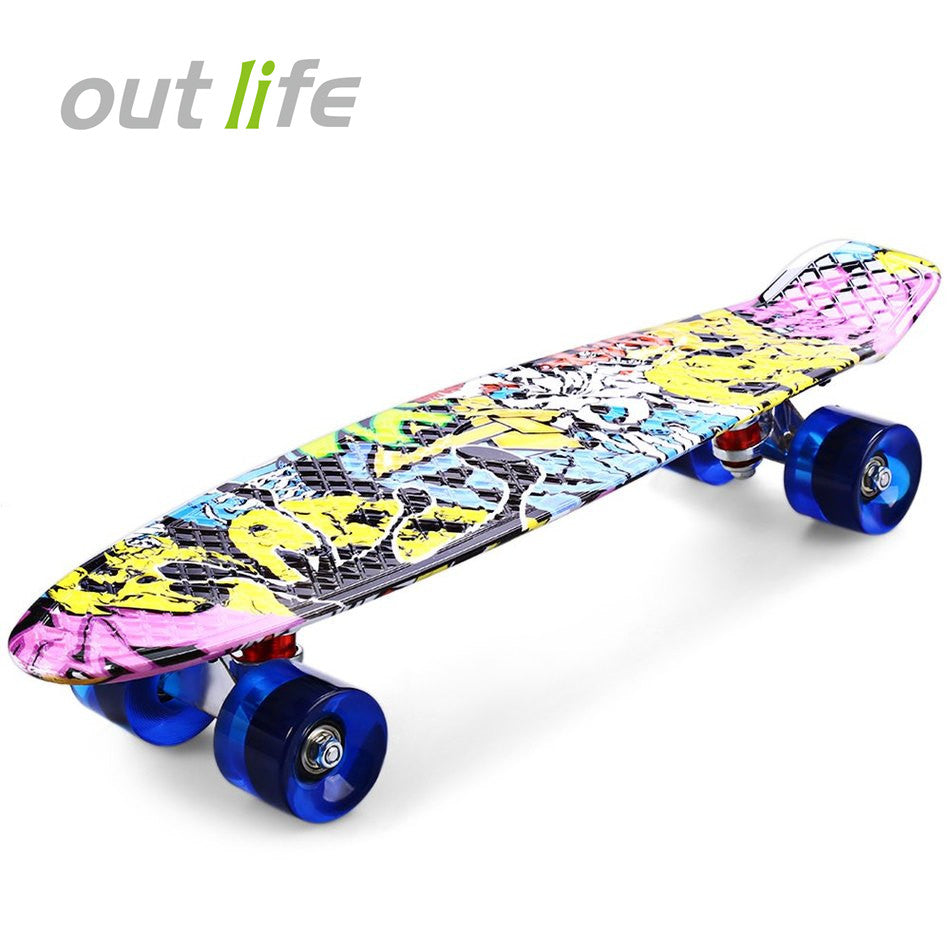 Graffiti Style Complete Skateboard 22 Inch Retro Cruiser For Children - JustPeri - Drive Your Destiny