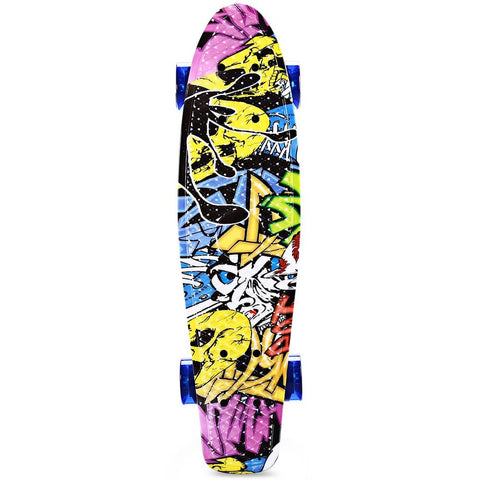 Image of Graffiti Style Complete Skateboard 22 Inch Retro Cruiser For Children - JustPeri - Drive Your Destiny