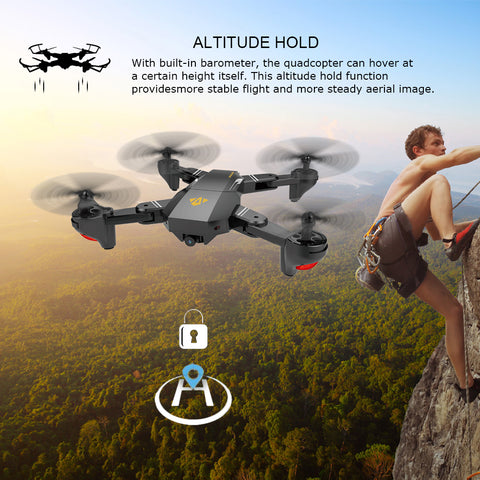 FOV Wide Angle Selfie Camera Drone - Foldable RC Quadcopter - JustPeri - Drive Your Destiny